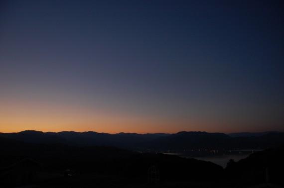 21道の駅はわい東郷池の夜景